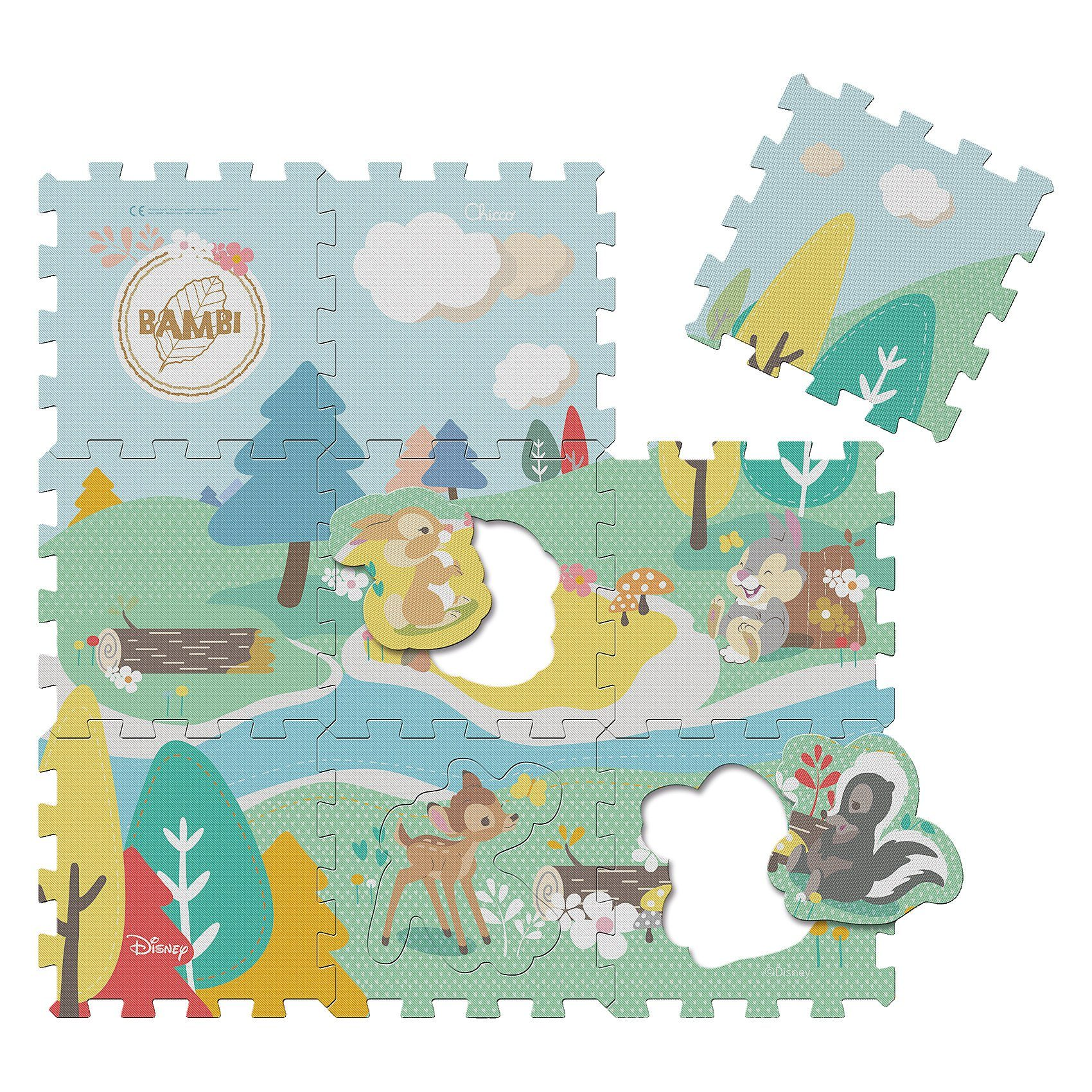 CHICCO Disney Baby Bambi Puzzlematte, 9tlg.