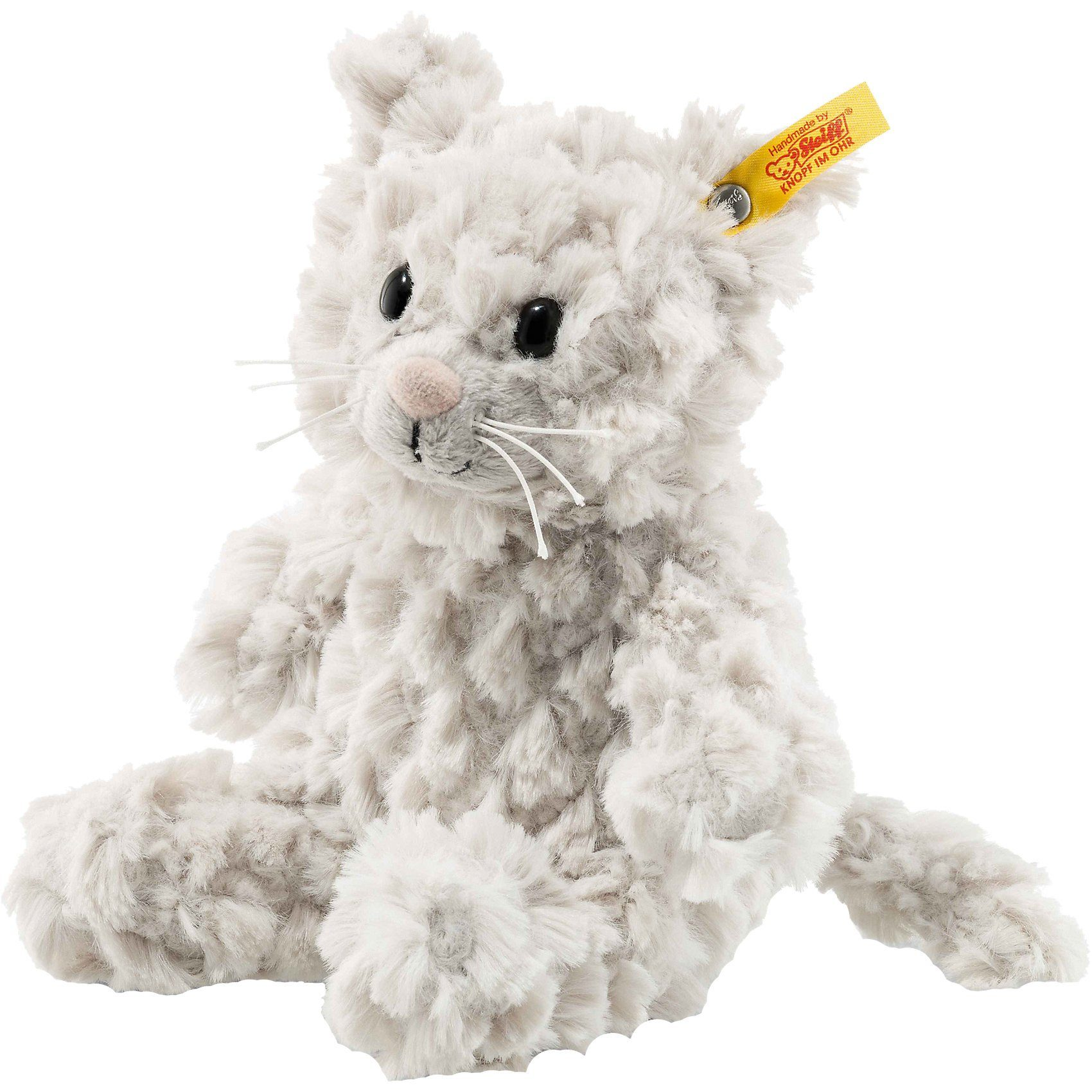Steiff Soft Cuddly Friends Katze Whiskers hellgrau, 18 cm