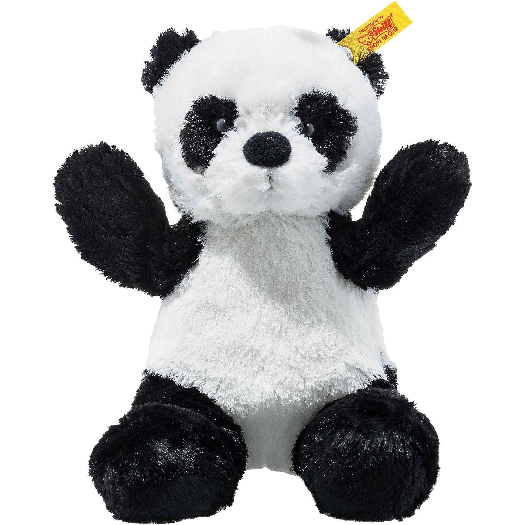 Steiff Soft Cuddly Friends Panda Ming weiss/schwarz, 18 cm