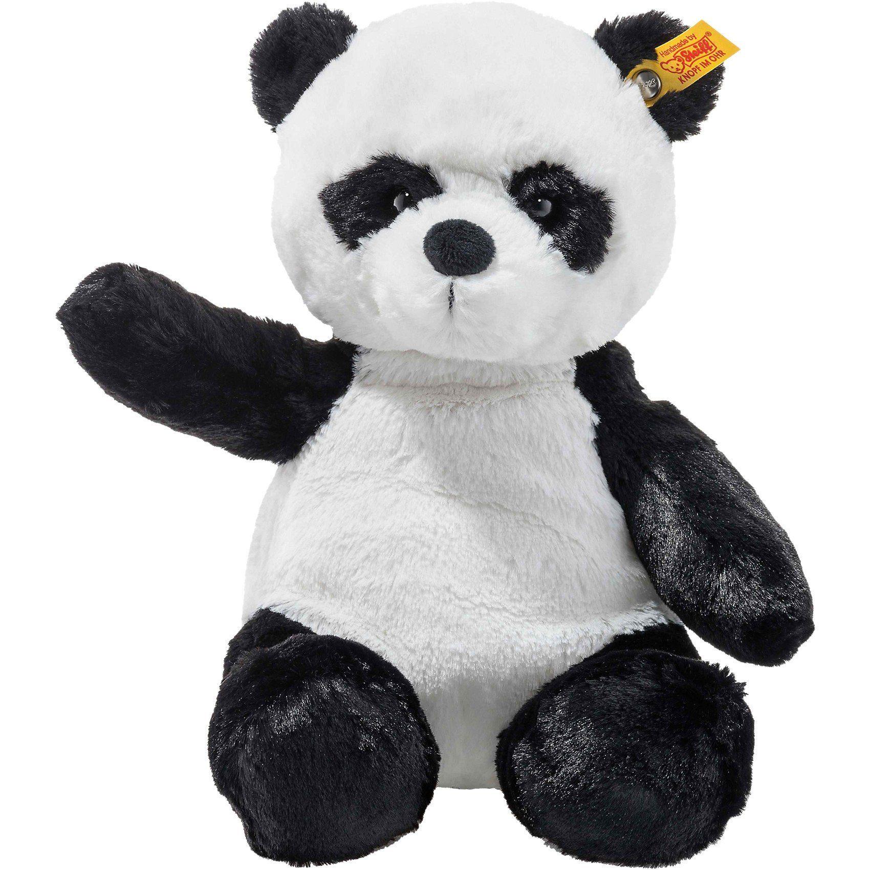 Steiff Soft Cuddly Friends Panda Ming weiss/schwarz, 28 cm