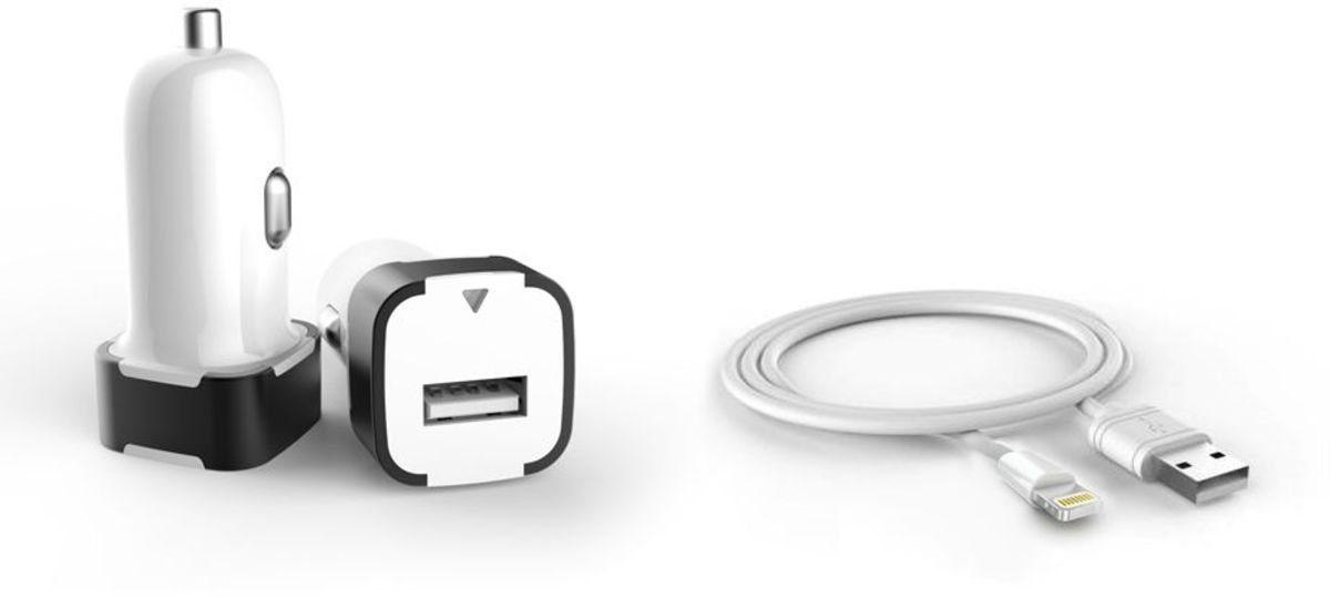 PEDEA Lader »USB KFZ Adapter 2,4A incl. Kabel für Apple«