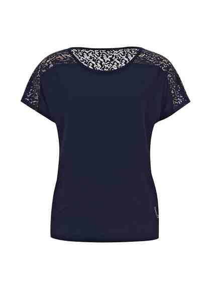 TRIGEMA Spitzenshirt mit Swarovski® Kristallen