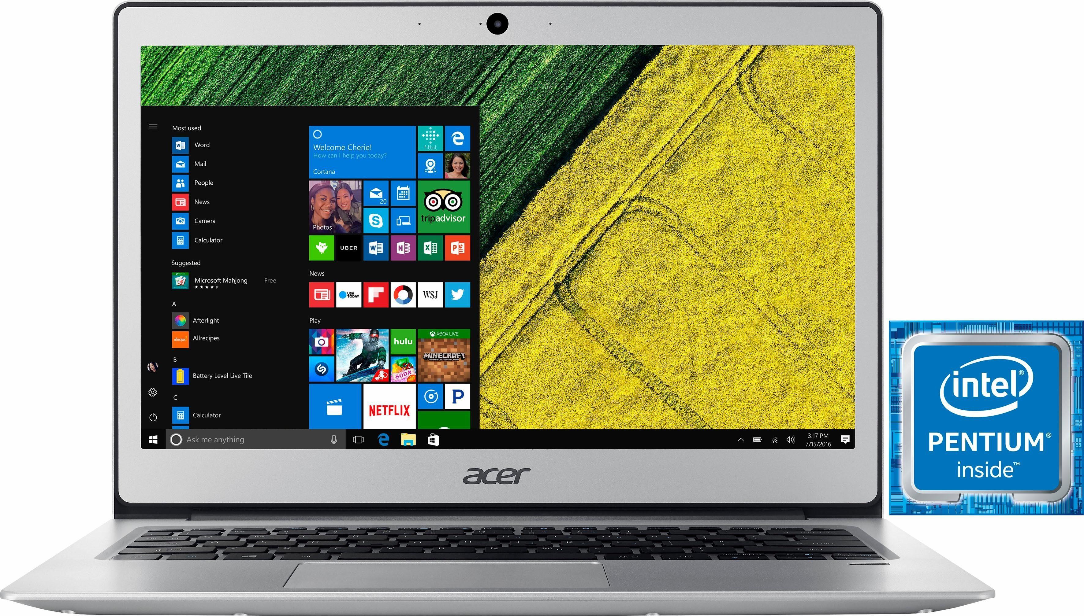 Acer Swift 1 Notebook (33,8 cm/13,3 Zoll, Intel Pentium, HD Graphics 505, Fingerprint Reader)