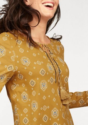 Cheer Langarmshirt, mit Perlenverzierung