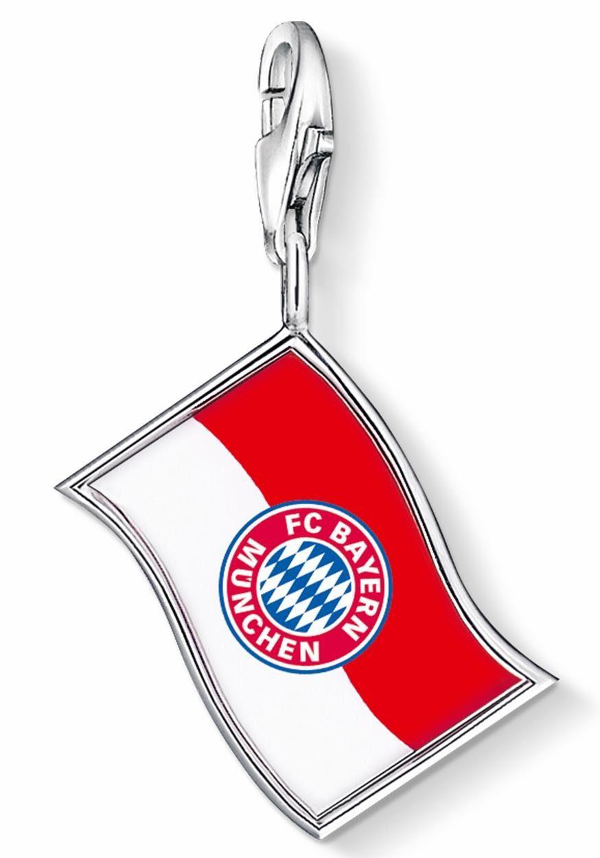 THOMAS SABO Charm-Einhänger »FC Bayern Fahne, FCB_0004-007-10«