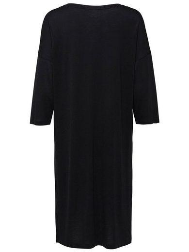 Selected Femme Lyocell- Kleid mit kurzen Ärmeln