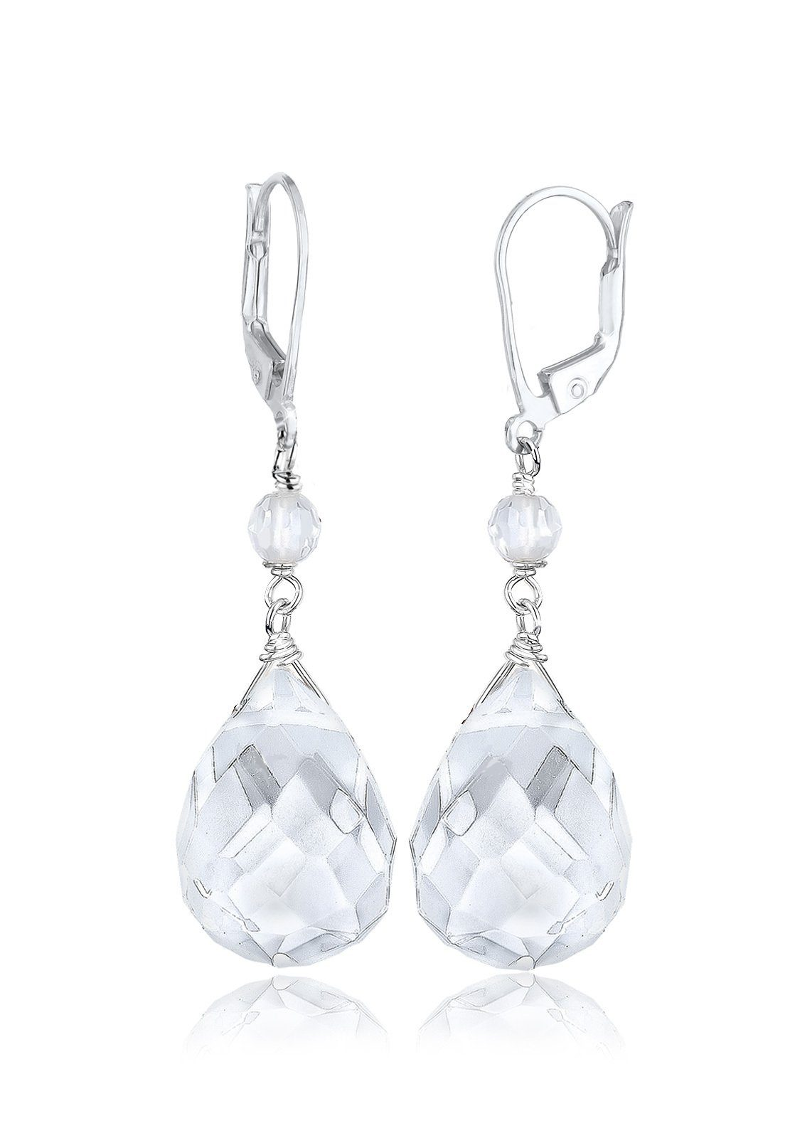 Elli Ohrringe »Tropfen Bergkristall Elegant Festlich 925 Silber«