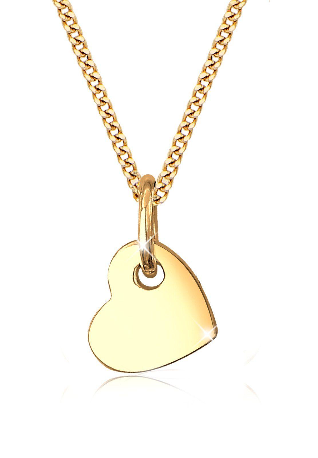Elli Halskette »Herz Romantisch Klassisch Elegant 585 Gelbgold«