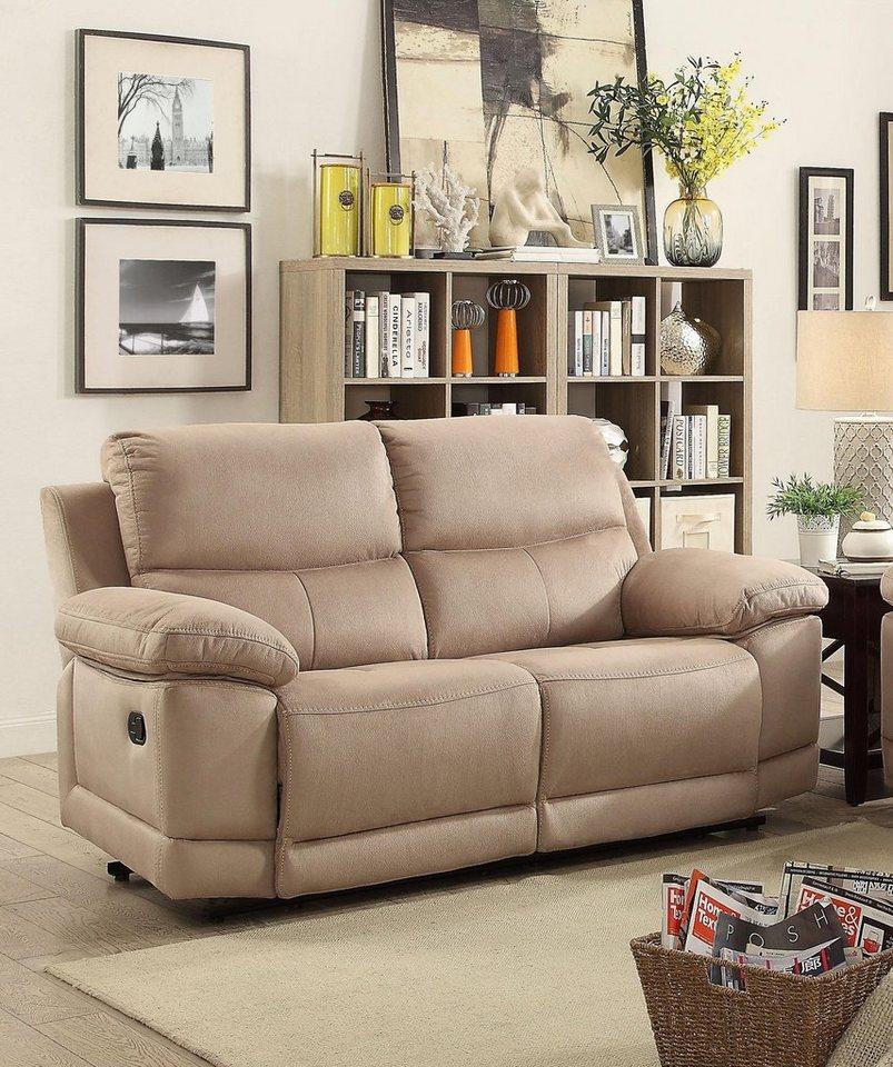 Sofas - Home affaire 2 Sitzer »Molly«, mit Federkern Polsterung und Relaxfunktion  - Onlineshop OTTO