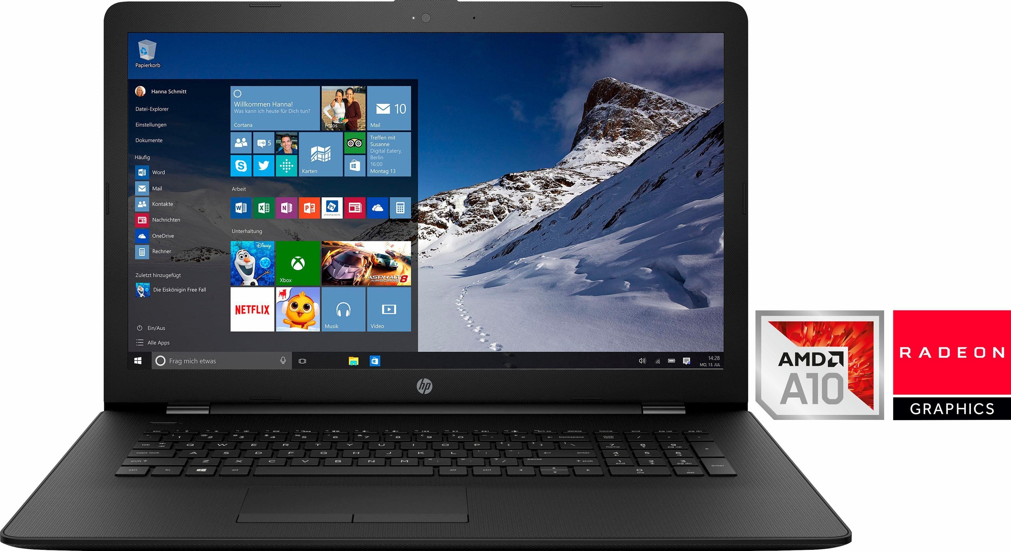 HP HP 17-ak061ng Notebook, AMD Quad Core A10, 43,9 cm (17,3 Zoll), 1000 GB Speicher
