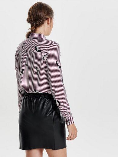 Only Bedrucktes Langarmhemd