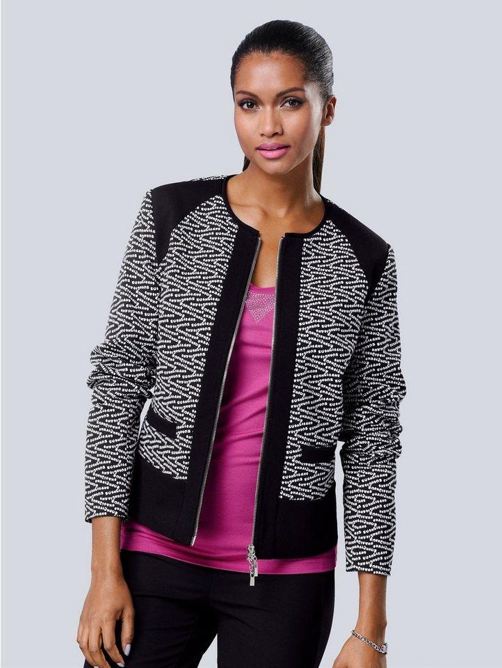 alba moda blazer jacke mit jacquard schriftzug otto. Black Bedroom Furniture Sets. Home Design Ideas