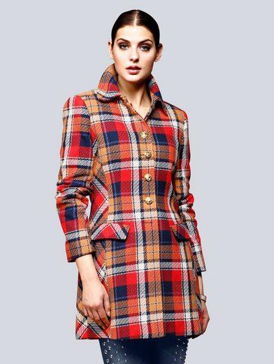 Alba Moda Mantel im hochwertigem gewebten Karodessin