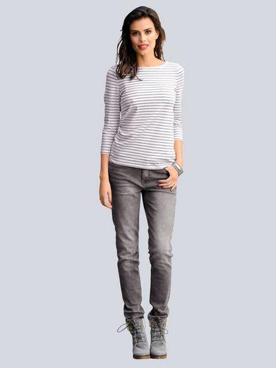 Alba Moda Hose aus Jersey in Jeans-Optik