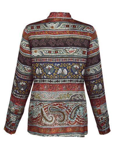 Alba Moda Silk Blouse In The Attractive Printmix