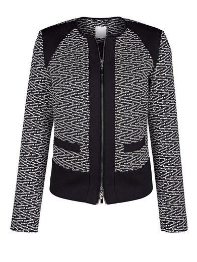 Alba Moda Blazer-Jacke mit Jacquard Schriftzug