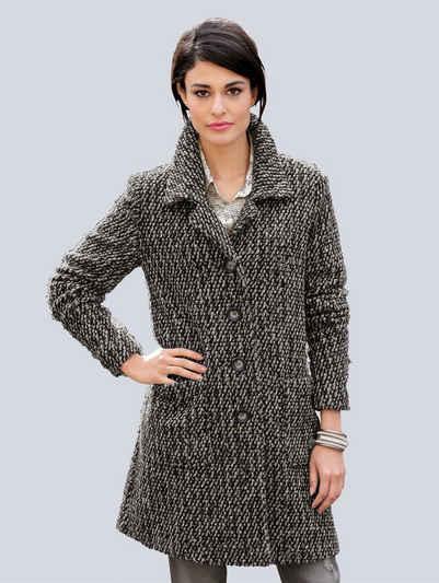 Ruhland Angebote Alba Moda Bouclémantel aus softer strukturierter Qualität