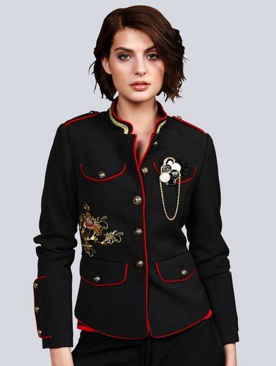 Alba Moda Military-Jacke mit aufwendiger Stickerei