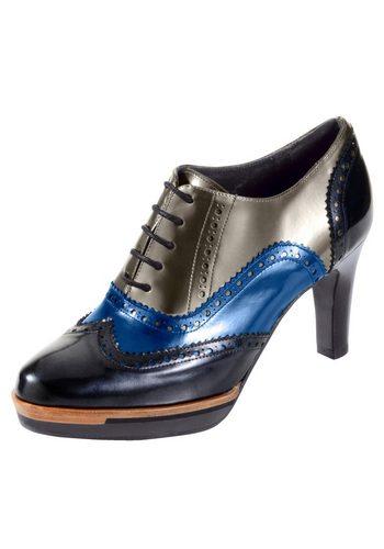 Damen Alba Moda Schnürpumps in modischer Mehrfarbigkeit blau | 04055715411098