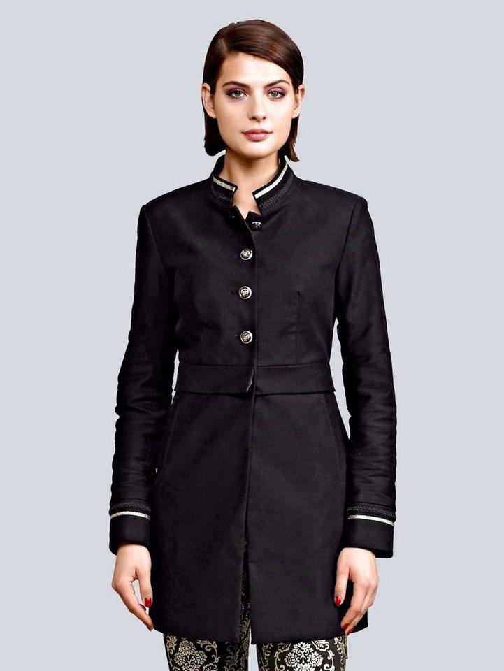 Alba Moda Longblazer aus hochwertiger Sportsamt-Qualität   Bekleidung > Blazer > Longblazer   Schwarz   Polyester - Elasthan   Alba Moda