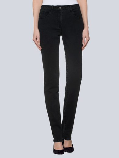 Alba Moda 5-Pocket-Hose in dezentem Used-Look