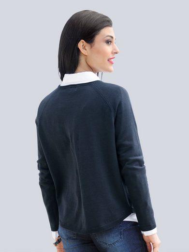 Alba Moda Sweater With Heart Motifs