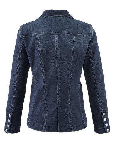 Mona Jeansblazer mit grafischem Jacquard-Muster