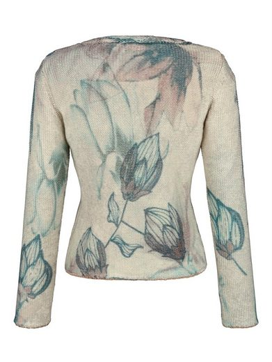 Alba Moda Strickjacke mit Blumendruck