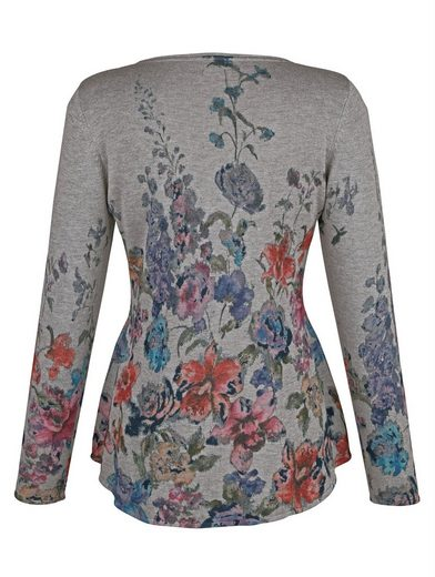 Alba Moda Pullover mit Blumendruck