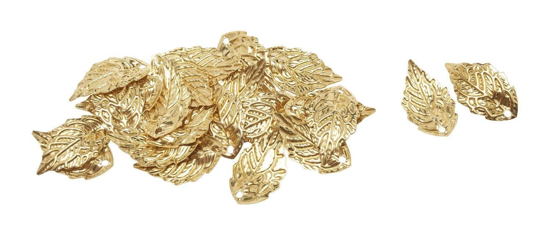 """VBS Anhänger """"Blätter mit Öse Gold"""" 24 Stück"""