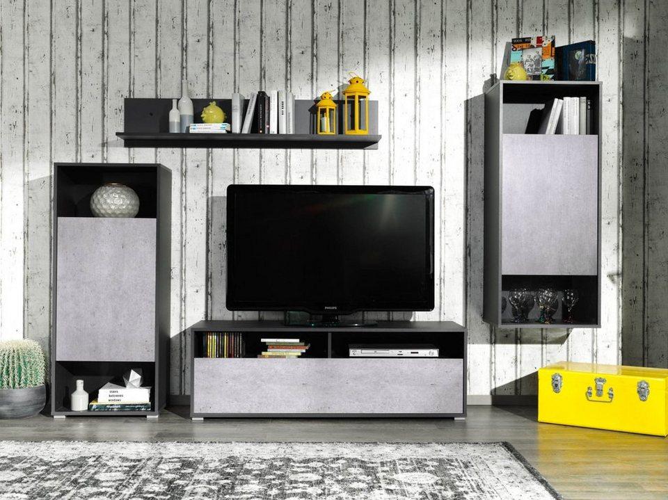 hti living wohnwand online kaufen otto. Black Bedroom Furniture Sets. Home Design Ideas