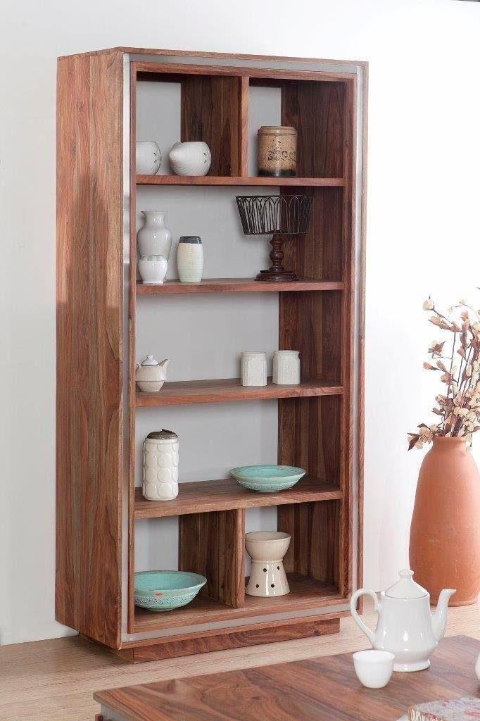 THE WOOD TIMES Bücherregal «Sheva» mit 7 offenen Fächern, Breite 88 cm