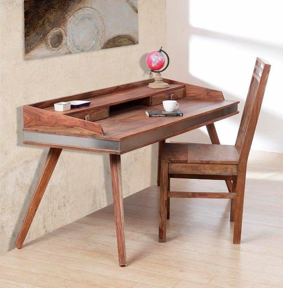 the wood times schreibtisch sheva mit 2 kleinen schubladen breite 145 cm online kaufen otto. Black Bedroom Furniture Sets. Home Design Ideas