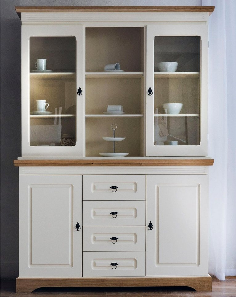 home affaire buffet provence mit 2 glast ren breite 137. Black Bedroom Furniture Sets. Home Design Ideas