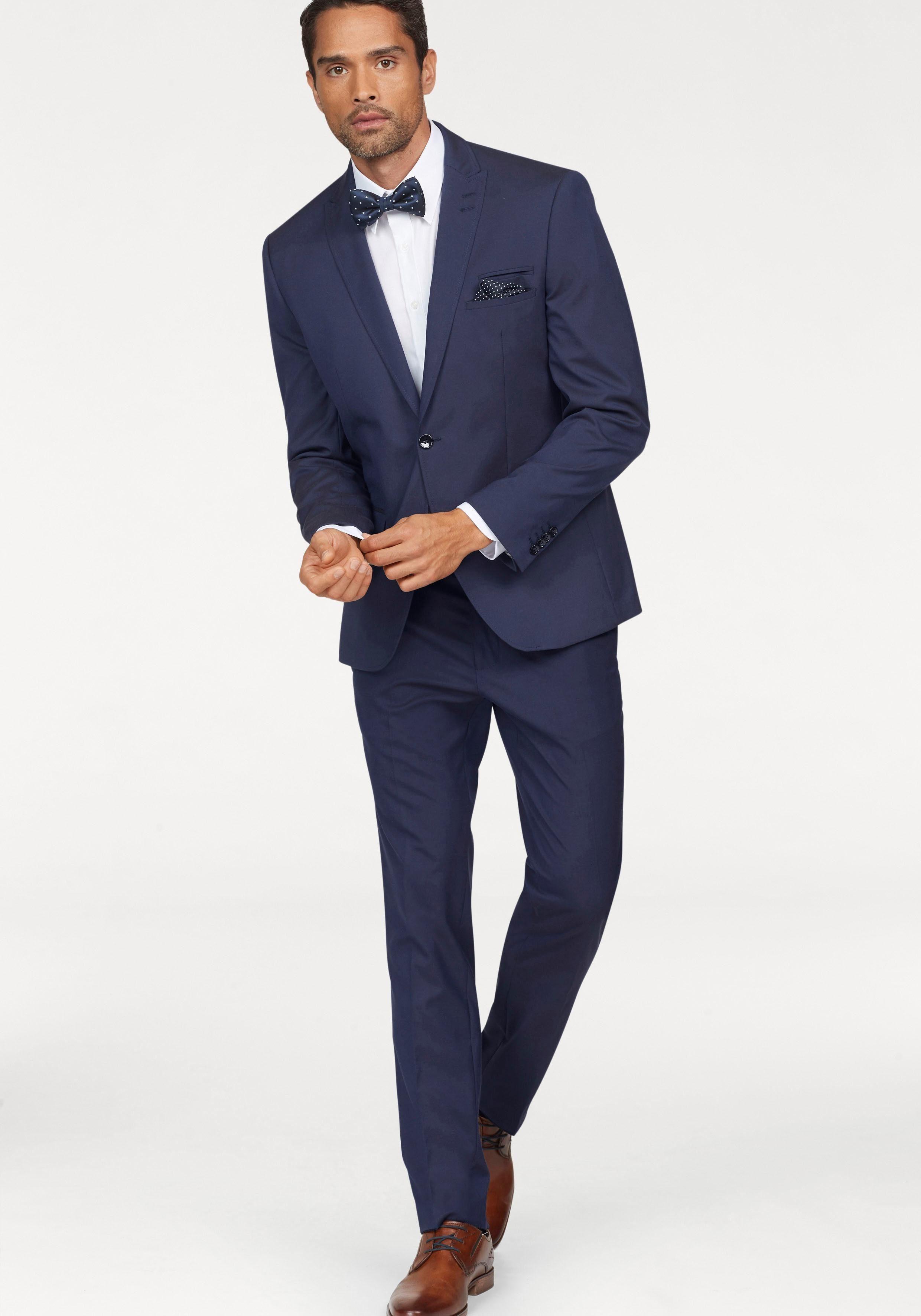 Bruno Banani Anzug (Set, 4 tlg., mit Fliege und Einstecktuch) inklusive Fliege und Einstecktuch online kaufen   OTTO