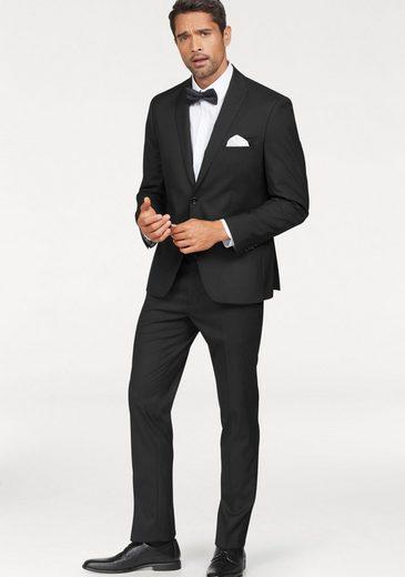 Bruno Banani Anzug (Set, 4-tlg., mit Fliege und Einstecktuch) inklusive Fliege und Einstecktuch