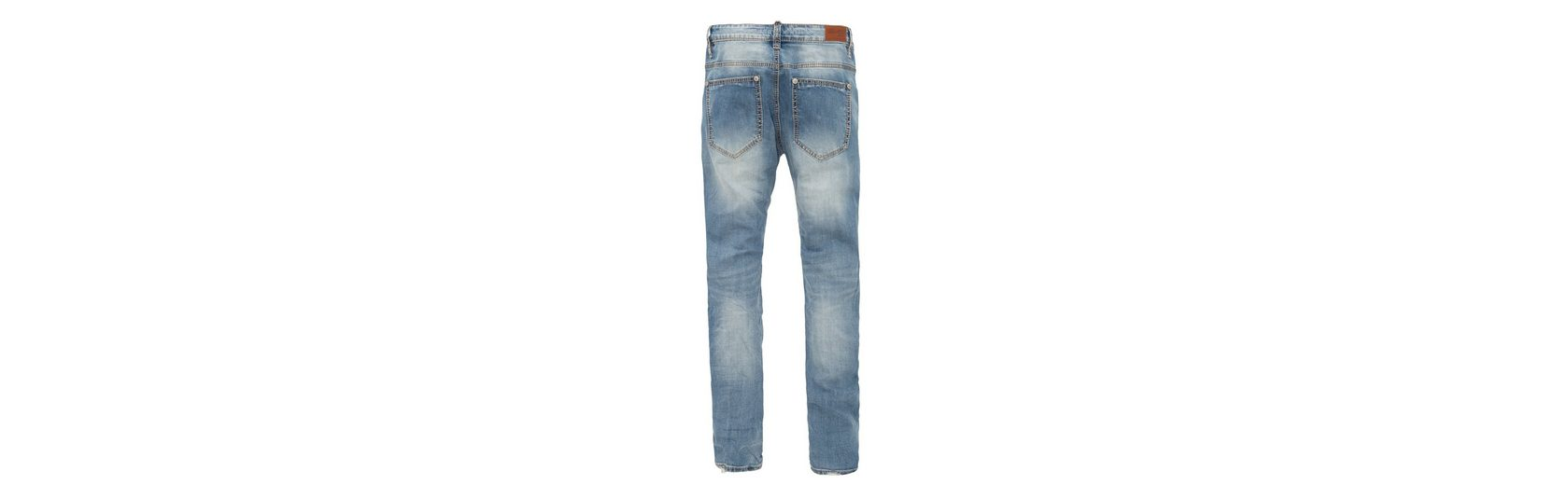 Blue Monkey Slim-fit-Jeans Jason 4395, mit breiten Kontrast Nähten