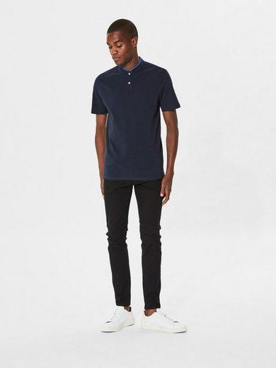 Selected Homme Mandarin-Kragen- Poloshirt