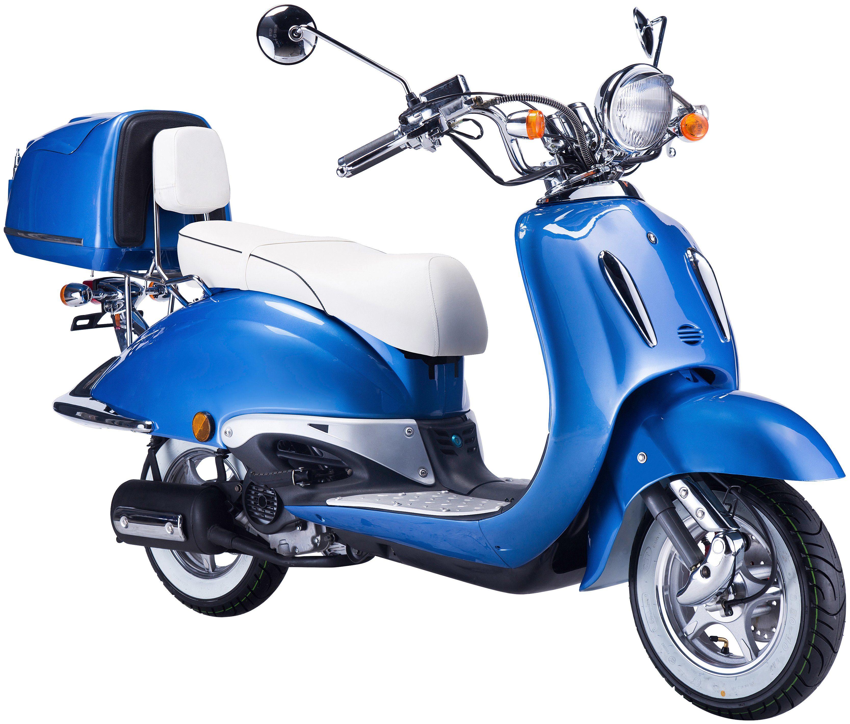 GT UNION Motorroller »Strada«, 50 ccm, blau-weiß