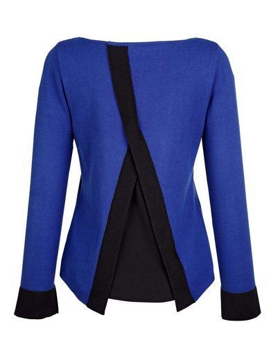 Alba Moda Pullover mit kontrastfarbenen Blenden