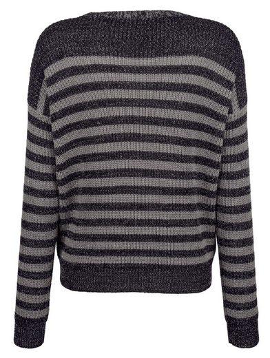 Alba Moda Strick-Pullover im Streifendessin