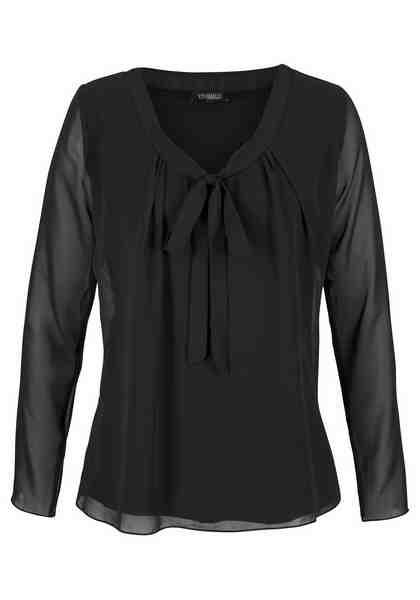 Vivance Blusenshirt mit gedoppeltem Vorderteil und Schluppe