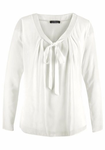 Vivance Blouses Shirt, With Redoubled Front Part And Schluppe