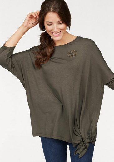 Cheer 3/4-Arm-Shirt, in lässiger oversize Form