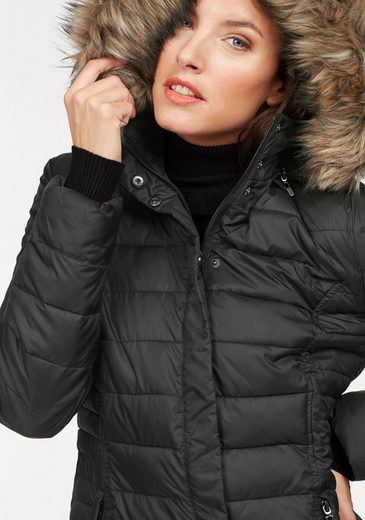 Aniston Quilted Coat With Removable Hood