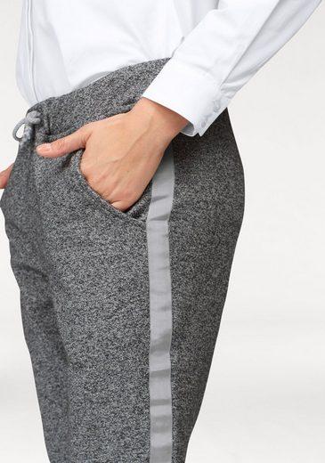 Aniston Schlupfhose, mit silberfarbenem Band an den Seiten