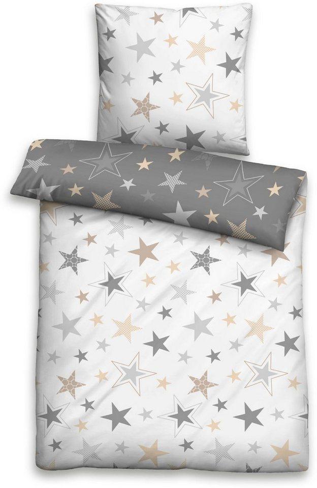 Bettwäsche »Lina«, Biberna, mit Sternen kaufen   OTTO