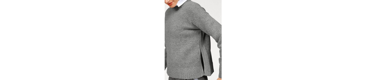 Aniston Rundhalspullover, mit Seitenschlitzen