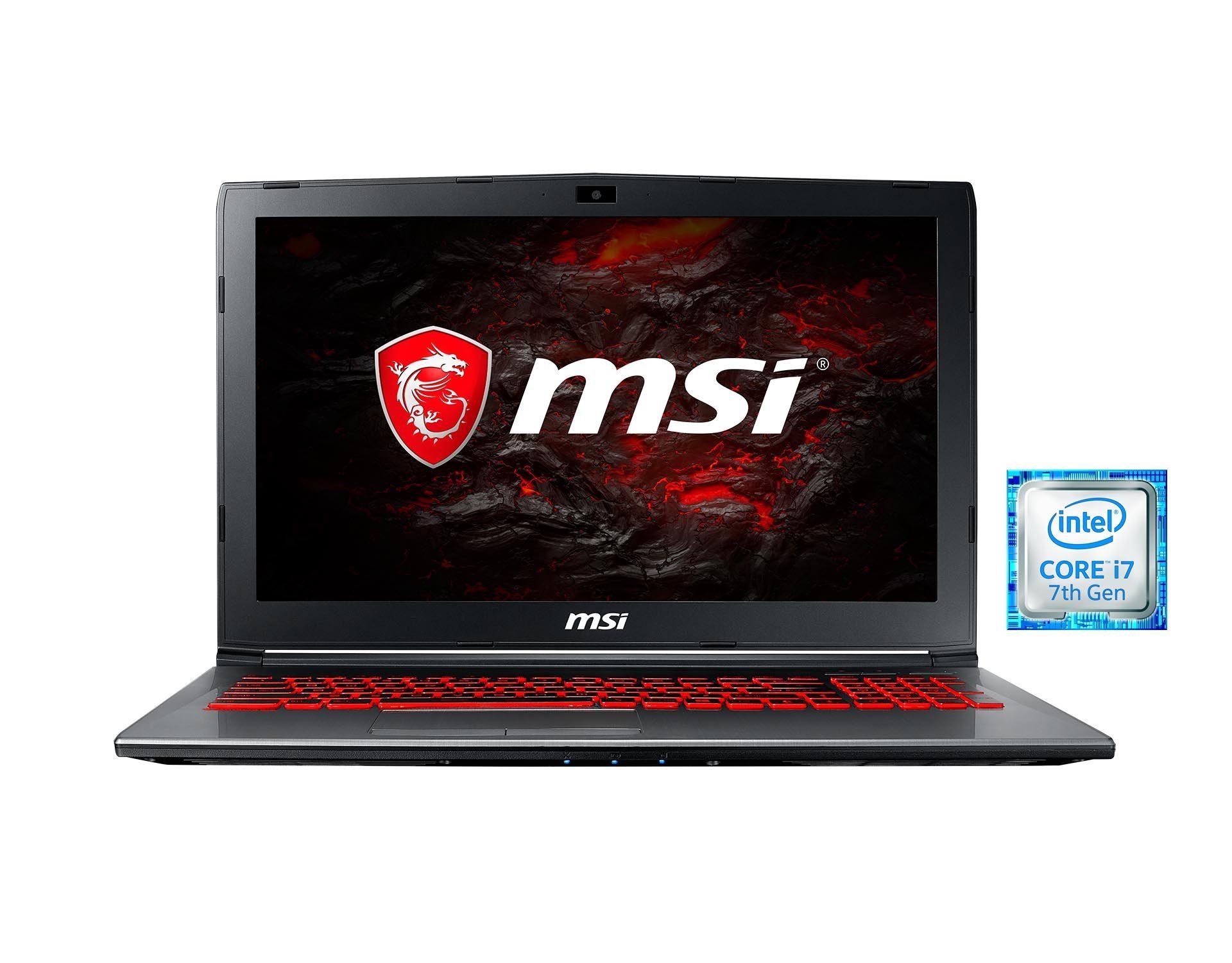 "MSI 15,6"", Intel® i7-7700HQ, 16GB, SSD, HDD, GeForce® GTX 1050 Ti »GV62 7RE-1625DE 0016J9-1625)«"