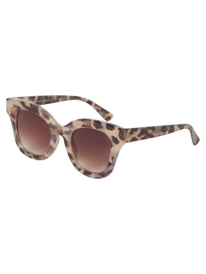 Damen Pieces Modische Sonnenbrille braun   05713619847892